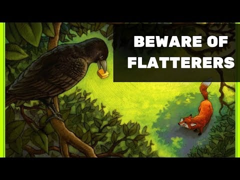 Beware of Flatterers - Story of a fox and crow