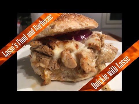 Sweet and sour Mozzarella Porkloin Burger - Easy Pork Loin Burger