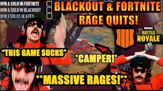 DrDisrespect RAGE QUITS Fortnite & Blackout BACK TO BACK! -Triple Threat Challenge! (Timestamped)