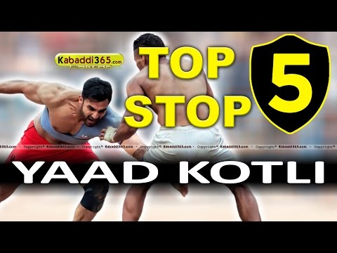 Top 5 Stop Yaad Kotli at Kabaddi Tournaments