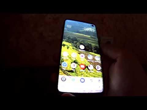 Защитное стекло на Samsung Galaxy S10 с поддержкой отпечатка