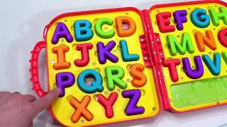 Cute Kid Genevieve Teaches Letters and Counting!