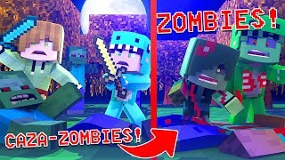 WE WENT from CAZAZOMBIES to ZOMBIES *we were bitten* 😱 MINECRAFT ROLEPLAY + ROBLOX