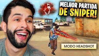COMO FIZ ISSO?!? MINHA MELHOR PARTIDA DE SNIPER NO FREE FIRE!