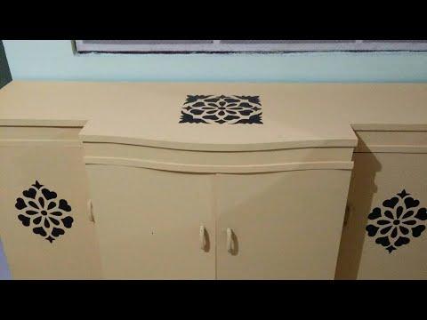Old furniture makeover,diy old table makeover, makeover of wooden furniture,chest of drawer makeover
