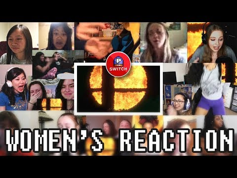 Women's Only Live Reaction to Super Smash Bros. for Nintendo Switch (15+ Synchronized Youtubers)