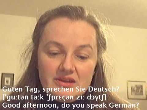 Lesson 1 (for beginners) - Learn German easily