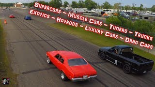 FAST CAR RUSH HOUR | 7 Min of Loud Exhaust and Racing - 100's of Hotrods Rippin! (Bonus Footage)