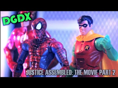 """Justice Assembled: A DGDX Animation""- THE MOVIE (PART 2) Marvel / DC Stop Motion (2014) *HD*"