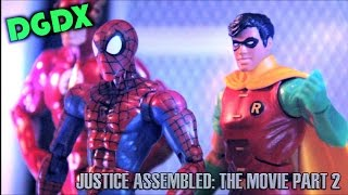 justice assembled a dgdx animation the movie part 2 marvel dc stop motion 2014 hd