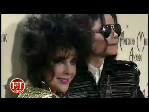 Michael Jackson & Elizabeth Taylor at the 20th  American Music Awards  red carpet 1993