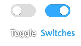 ANIMATED TOGGLE SWITCHES in Pure CSS Tutorial