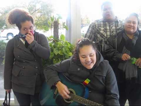 Tongans Singing Gospel Song - He Understands my tearss To Big sis Leni !