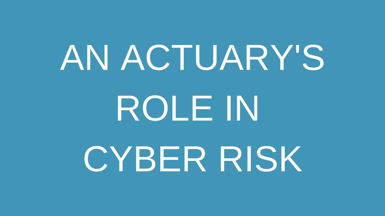 An actuary's role in cyber risk