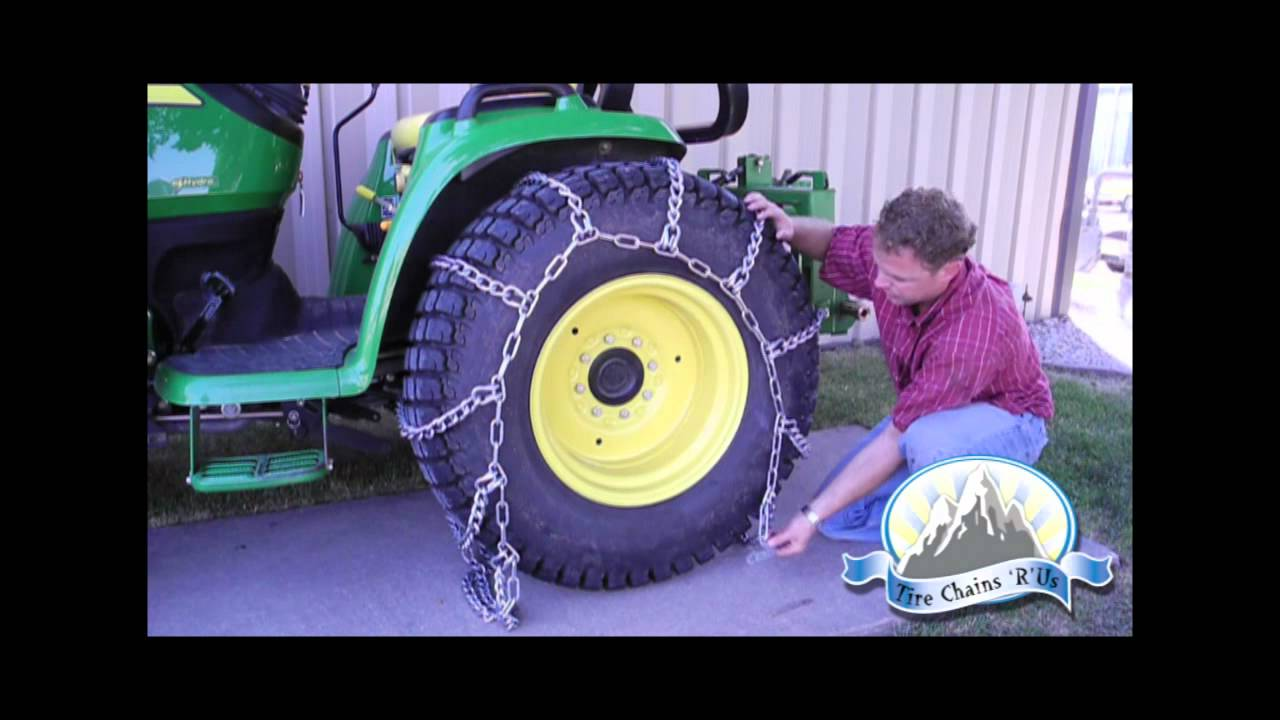 how to install tractor tire chains youtube. Black Bedroom Furniture Sets. Home Design Ideas