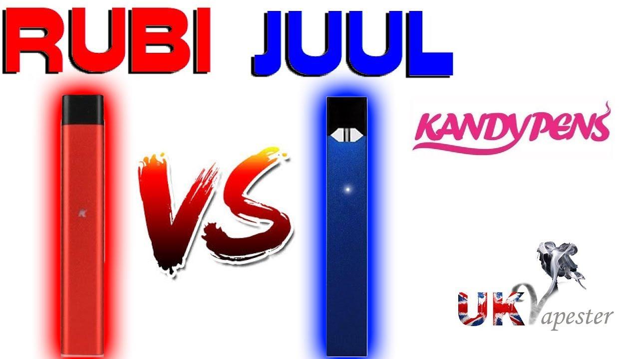 RUBI Vs JUUL | Kandy Pens Pod System - LIFE TIME WARRANTY!