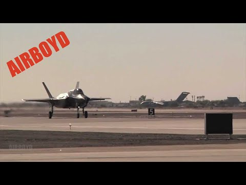 F-35 Touchdown, Rollout and Taxi (2012)