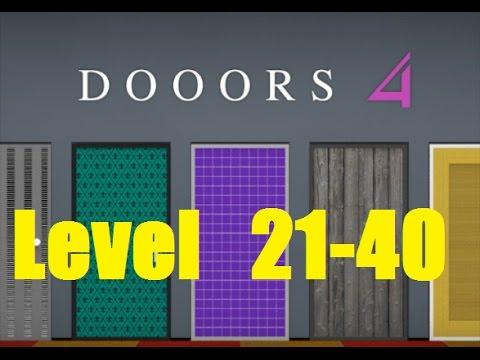 DOORS 4 room escape game Level 21 - 40 - 58 Works
