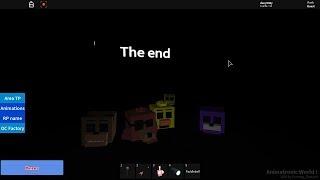 Como conseguir The End... en Animatronic World Roblox