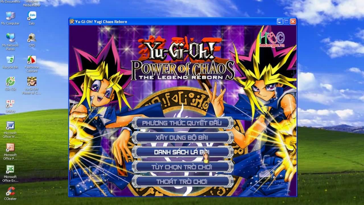 Cách hack full bài và chuyển file xếp bài có sẵn trong Yu-Gi-Oh! Power Of Chaos