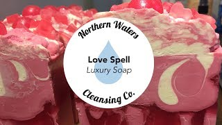 Love Spell Cold Process Soap Making & Cutting | Northern Waters Cleansing Co.