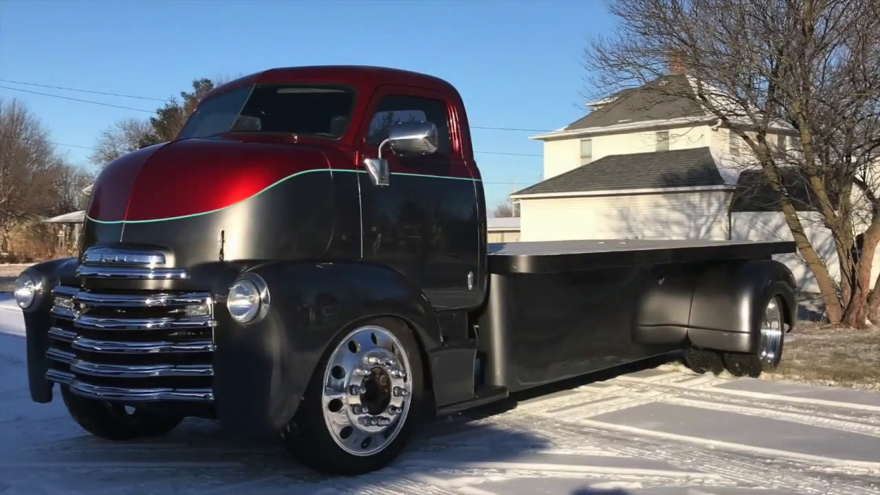1953 Chevy COE truck build # 11 - 95% complete! - YouTube