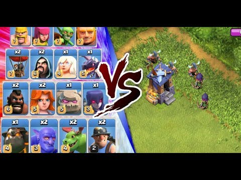 Guard Post Vs All Troops//clash Of Clans Private Server