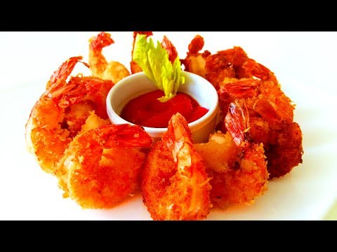 Рецепт Китайская кухня. Вкуснейшие креветки в панировке.