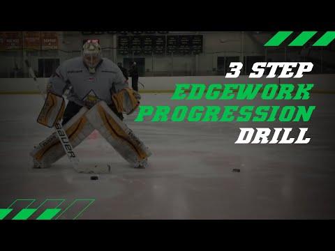 3 Step Edgework Hockey Goalie Skating Drill (progression)