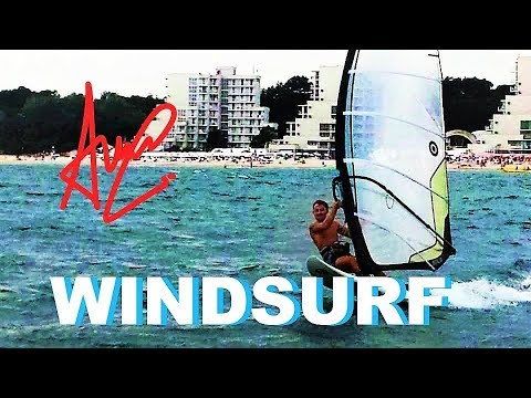 10. How to Windsurf - Carve jybe in gust offshore wind ( race training )