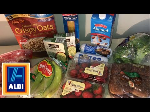 18 aldi grocery haul with weight watchers smart points losing weight on a budget youtube. Black Bedroom Furniture Sets. Home Design Ideas