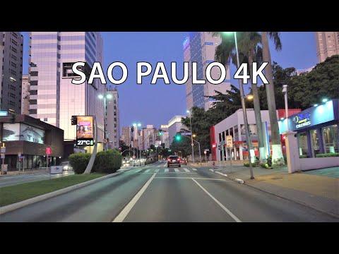 Sao Paulo 4K - Modern City Center - Driving Downtown - Brazil