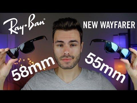 Ray-Ban New Wayfarer Size Comparison 55mm vs 58mm