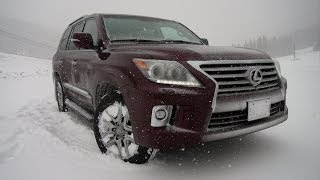 2014 Lexus LX570 takes on the extreme Loveland Gauntlet Blizzard Review
