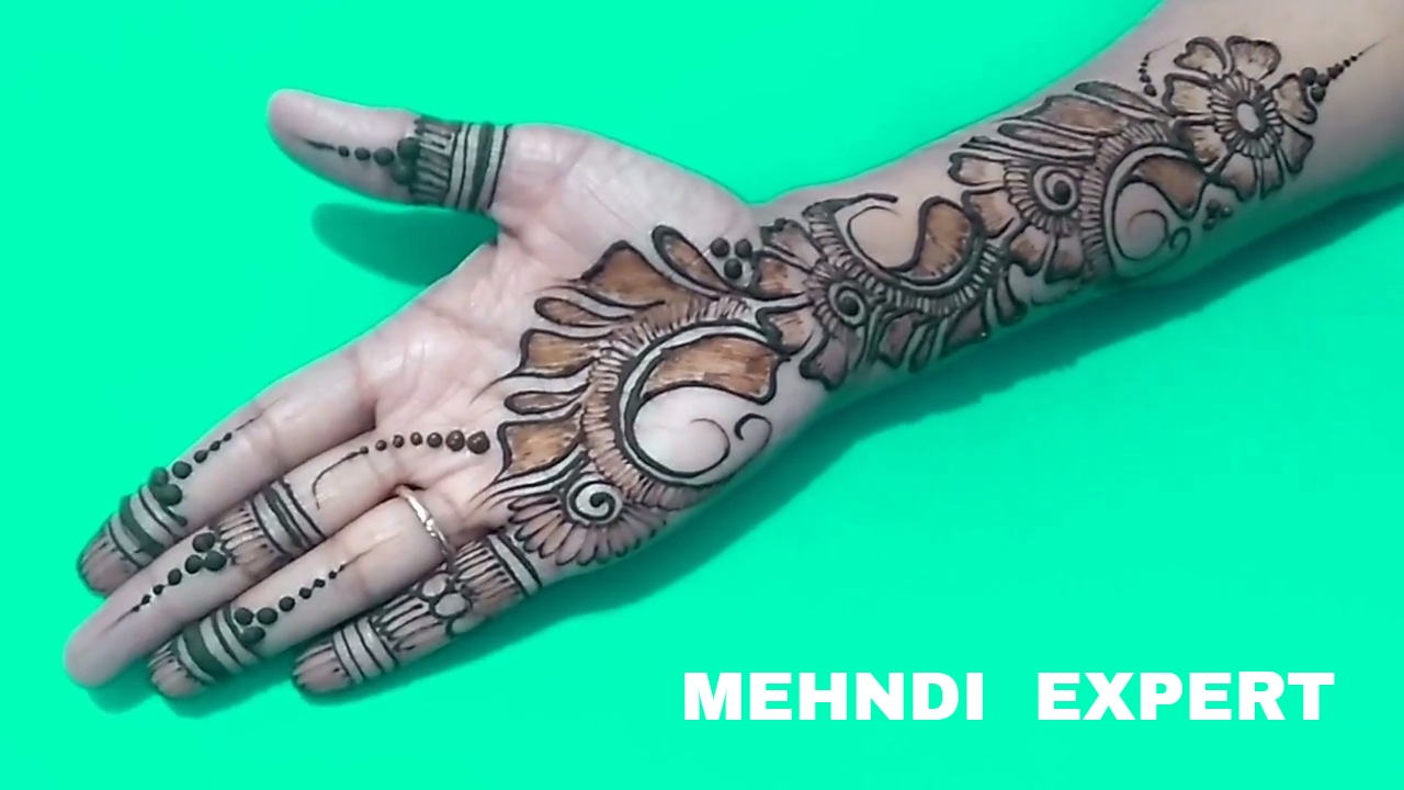 Simple And Beautiful Arabic Flower Mehndi Design For Hands Ll Step