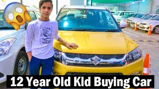 12 Year Old Kid BUYS NEW CAR in India