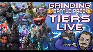 FORTNITE - FUN PLAYER GRINDING NEW BATTLE PASS TIERS LIVE - DAILY ITEM SHOP RESET COUNTDOWN