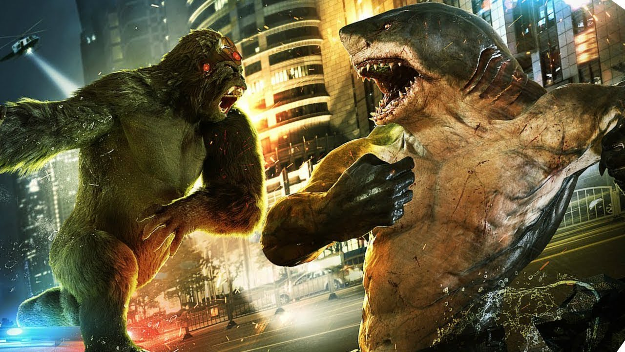 The Flash King Shark vs Gorilla Grodd