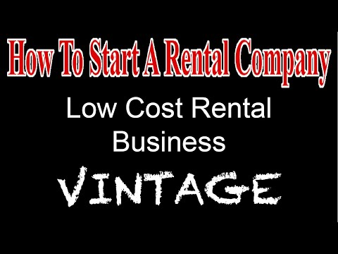 Low Cost Entry In Rentals - Start A Party Rental Company