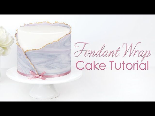 Ripped Marbled Fondant Wrap Cake Decorating Tutorial
