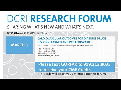 DRF 19: Cardiovascular Outcomes for Diabetes Drugs: Lessons