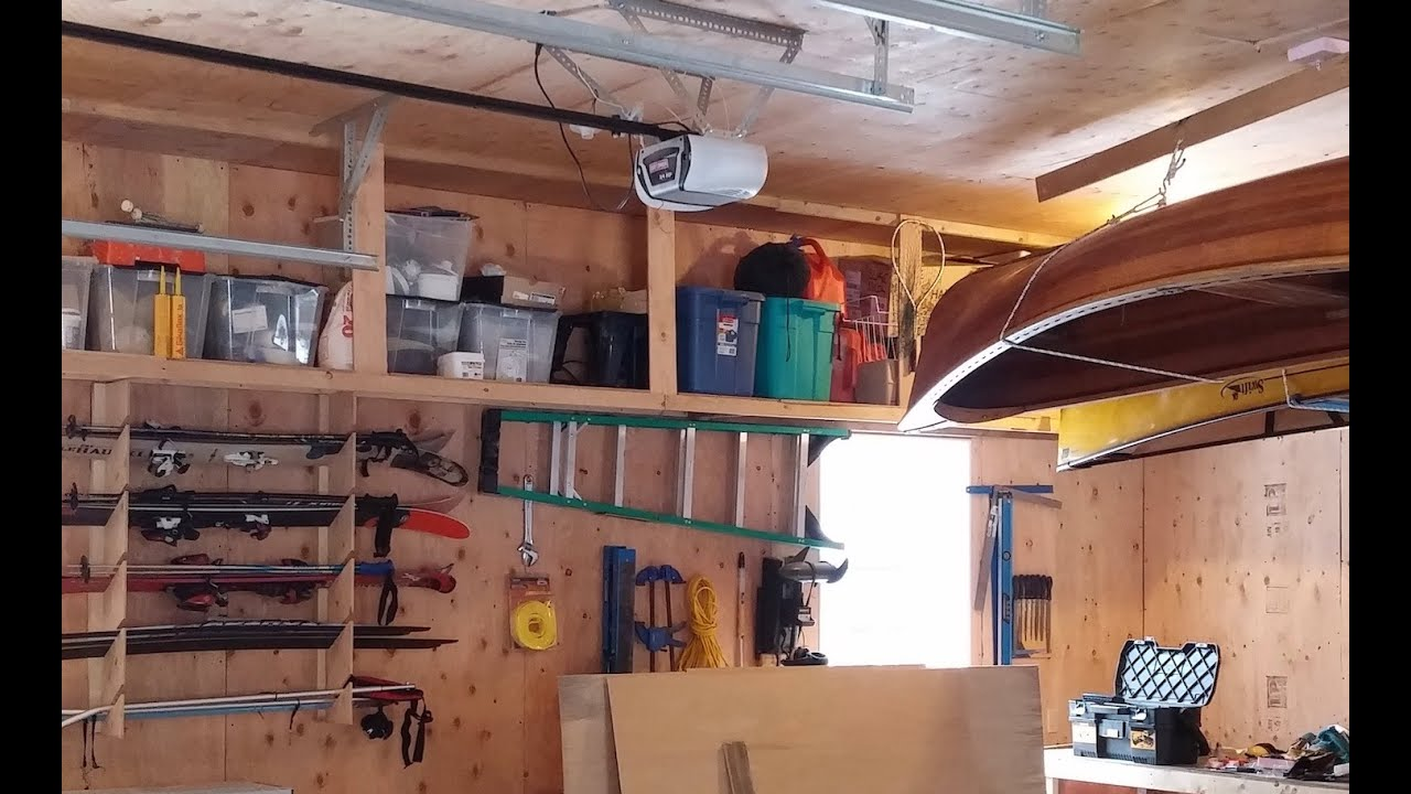 How to Build Overhead Garage Shelves for Overhead Garage Storage – Overhead Garage Shelving Plans
