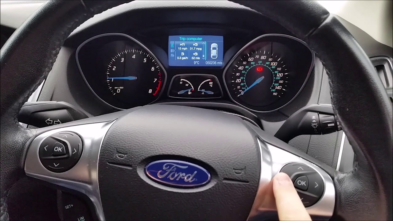 Ford Focus Mk Tyre Deflate Detect Tpms Reset Tyre Pressure Warning