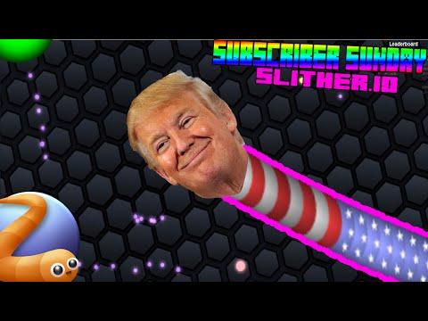 Donald Trump Plays Slither.io?