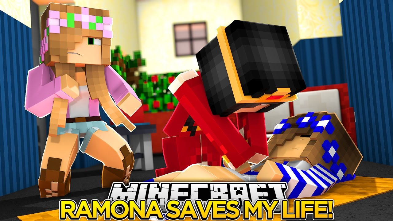 Minecraft Royal Family-RAMONA SAVES MY LIFE w/Little Kelly.