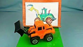 Aprende colores con autos y pintura para niños