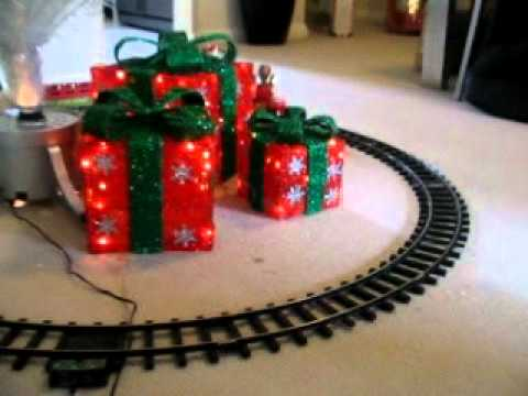Train Set Around Christmas Tree In Christmas 2010   YouTube