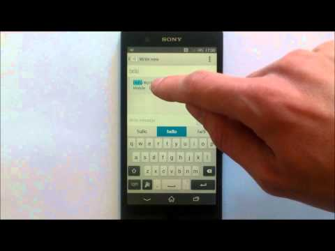 How To Send A Text Message On An Android Mobile Phone - Lesson 2