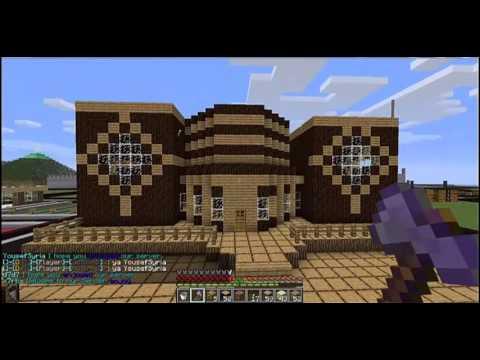بناء بيت عصري في ماين كرافت