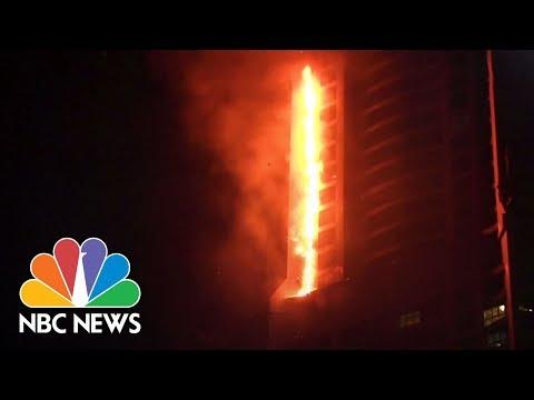 Torch Tower In Dubai Catches Fire | NBC News